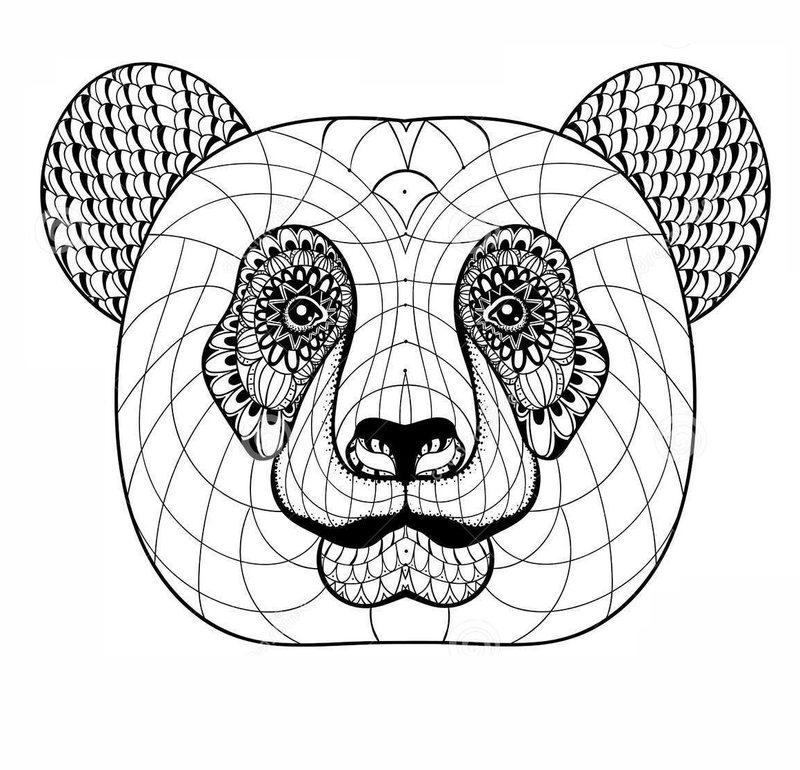 Pandabär Ausmalbilder für Erwachsene kostenlos zum Ausdrucken, Teil 1