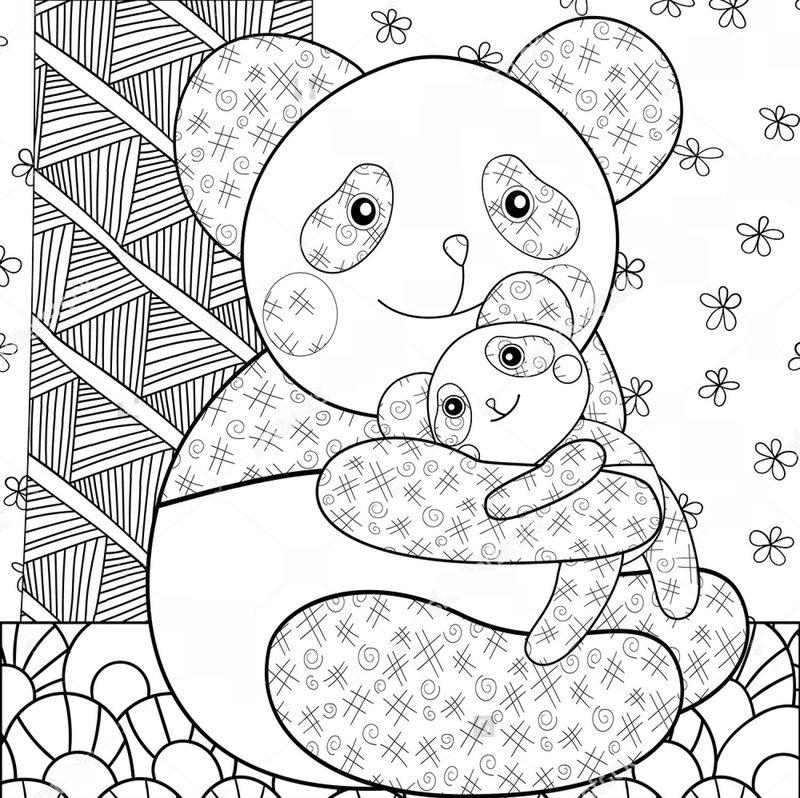 Pandabär Ausmalbilder Für Erwachsene Kostenlos Zum