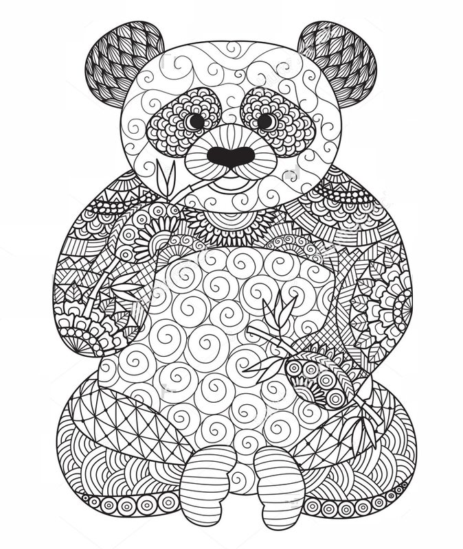 Pandabär Ausmalbilder Für Erwachsene Kostenlos Zum Ausdrucken Teil 3