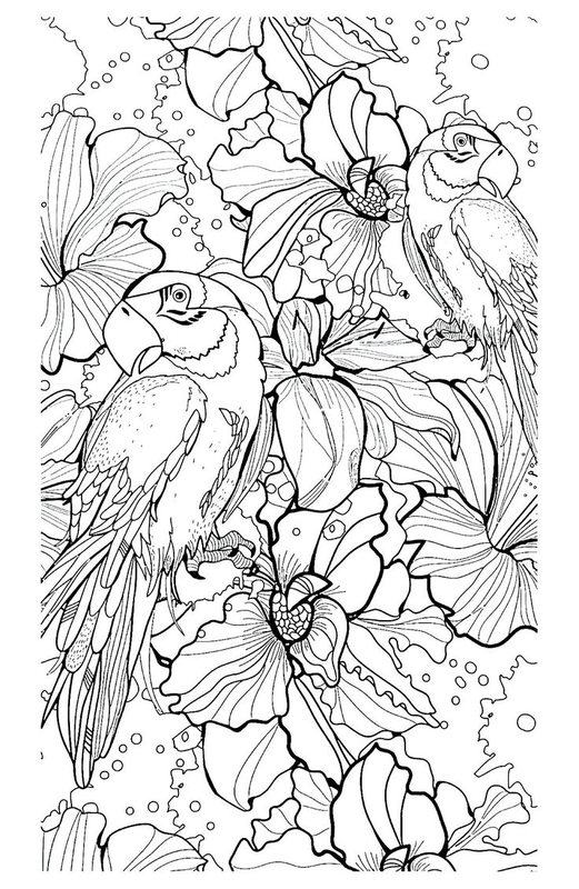 complex coloring pages nature cat - photo#17