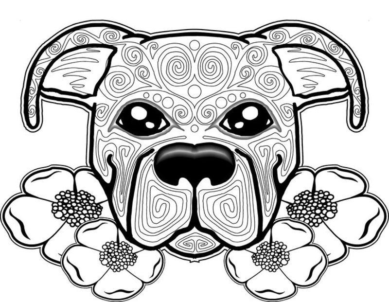 Hunde Ausmalbilder Fur Erwachsene Kostenlos Zum Ausdrucken Teil 1