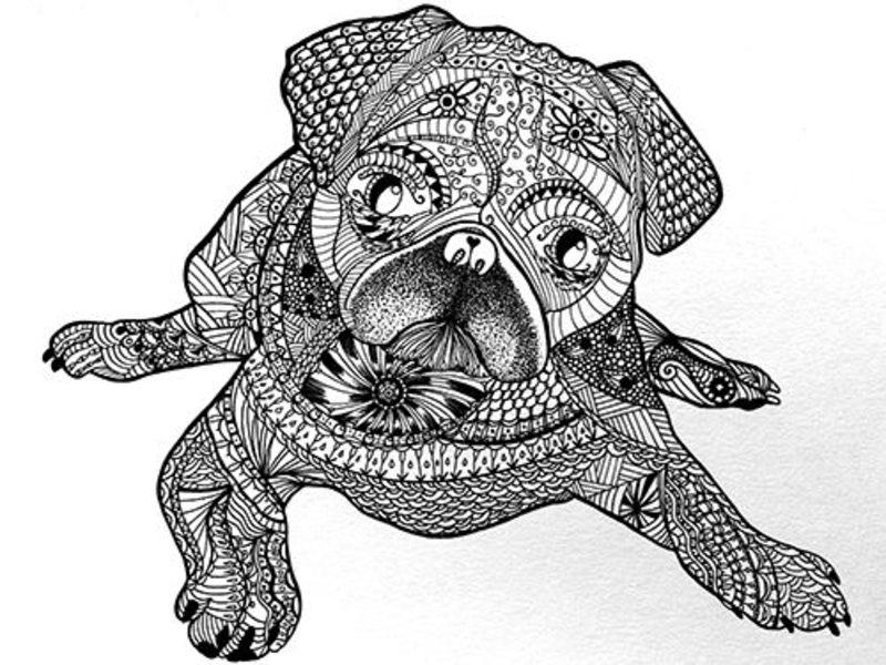 Hunde Ausmalbilder Für Erwachsene Kostenlos Zum Ausdrucken Teil 2