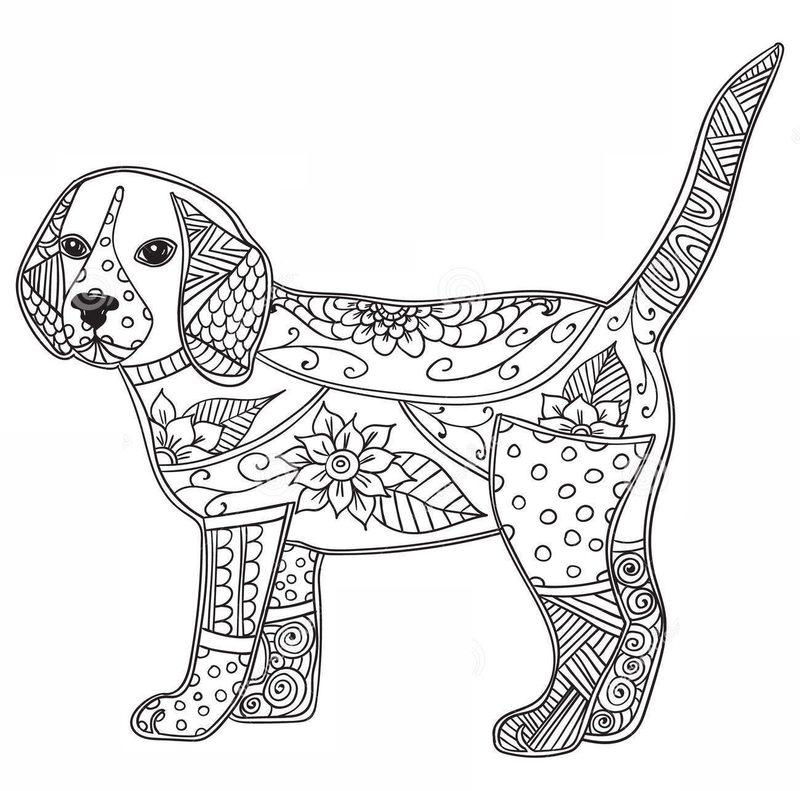 Ausmalbilder Erwachsene Hunde - Kostenlos zum Ausdrucken