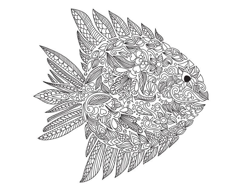 Fische Ausmalbilder Für Erwachsene Kostenlos Zum Ausdrucken Teil 3