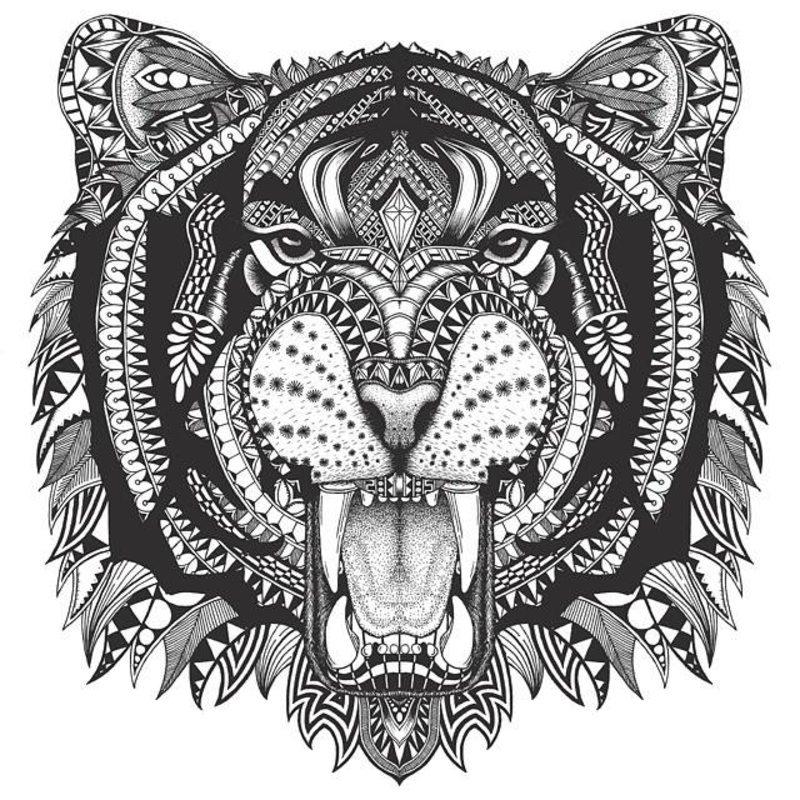 Tiger ausmalbilder f r erwachsene kostenlos zum ausdrucken - Mandalas de tigres ...