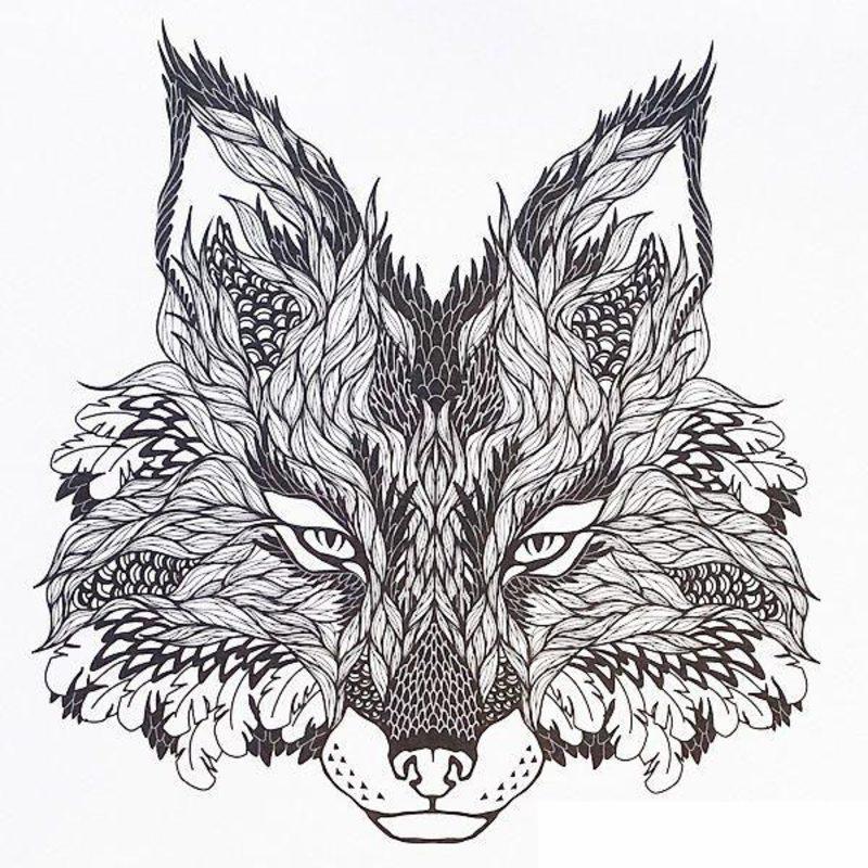 Wölfe Ausmalbilder Für Erwachsene Kostenlos Zum Ausdrucken Teil 2